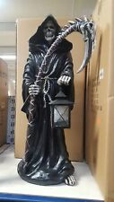 LARGE GRIM REAPER CANDLE HOLDER STATUE GOTHIC SCARY HALLOWEEN 24 INCHES TALL