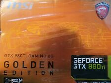 MSI GeForce GTX 980Ti GAMING 6G GOLDEN EDITION Graphics Card From Japan PC parts