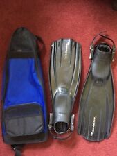 MARES PLANA AVANTIQUATTRO ABS SCUBA DIVING FINS W/ CARRYING CASE>ITALY>SIZE S