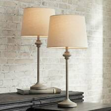 Country Cottage Buffet Table Lamps Set of 2 Light Beige...