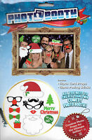 24 PC Photo Booth Selfie Props Adult Party Memory faces Merry Christmas
