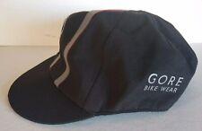 Gore Bike Wear Gortex Cap Cycling Hat Black Medium Reflective Elastic Back Bill