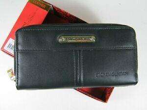 Stone Mountain Nappa SLG Leather Wallet Black Double Zip $48