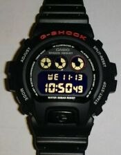 Casio G-Shock DW6900 DW-6900 DW 6900 Custom Black, White, and Red