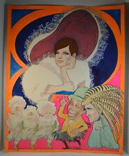 The Belle of 14th Street Gouache Painting by Bob Schulenberg Barbara Streissand