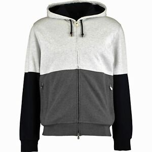 BRUNELLO CUCINELLI Grey Cotton Zipped Hoodie Jacket Made In Italy NEW +TAGs