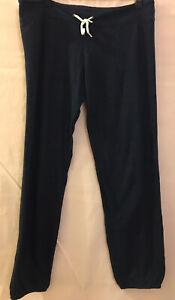 M MONROW $204 Navy Classic Supersoft Lounge Wear Pants Joggers Sweats Light Use