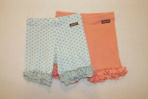 Matilda Jane size 10 ruffle shorties hello lovely happy & free polka dots