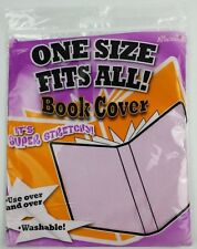 It's Academic Book Cover Super Stretch Re-usable Light Pink New