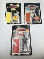 Cardback Lot Hoth Snowtrooper AT-AT Driver Rebel Soldier Kenner Star Wars ESB