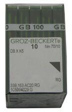 Groz-Beckert PK x 100 Needles DBxK5 RG 10-70 for Embroidery Machines