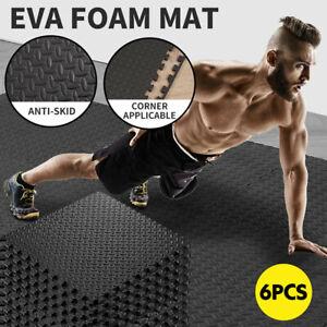 6PCS Interlocking Heavy Duty EVA Foam Gym Flooring Floor Mat Mats Tiles