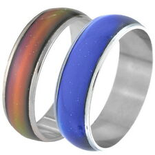 Amazing Change Color Temperature Mood Rings Emotional Feeling Band Size10 DS