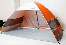 POP Up Tenda da spiaggia Cabana taglia della famiglia con protezione solare 50+ UPF RRP £ 39.99