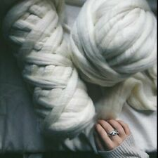 DIY -5 Lbs White Wool Roving Fiber Make Chunky Large Blanket