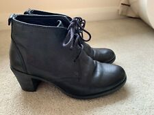 CAMPER BLACK LEATHER HIGH HEEL BOOTIES SIZE UK 3 EUR 36 NICE CONDITION