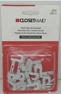 ClosetMaid Wall Clips For Drywall Anchors 76610 White Pack of 7