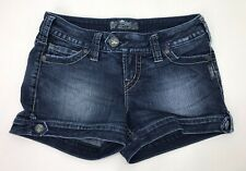 "Womens Silver Brand Denim Shorts ""Marti"" Style, Size 26"
