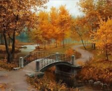 The Park on a Fall Day Paint By Numbers Kit 40CMx50CM Canvas