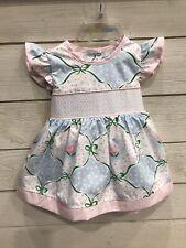 The Beaufort Bonnet Company Spring Tulip Smocked Dress 6-12 Mo Girls Easter