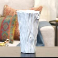 Urban Trends Collection Floor Vase Decorative Only Round White Gloss Ceramic New