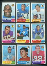 1968 Topps Football Lot (32) EXMT