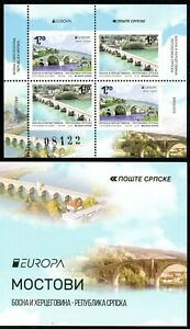 BOSNIA SERBIA(424) - Europa - Bridges - MNH Booklet - 2018