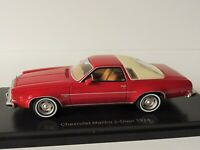 Chevrolet Malibu 1974 1/43 Neoscalemodels NEO47185 2-Door Rojo Crema