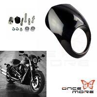 Black Headlight Fairing Front Cowl Fork Mount For Harley Sportster XL Dyna Glide