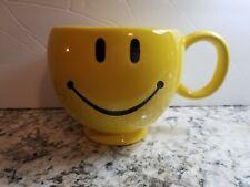 Smiley Mug Teleflora Yellow 20 oz Oversized Coffee Cup Happy Face Smiling Emoji
