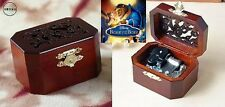 Classic Octagon Wood Wind Up Music Box : Beauty And The Beast Theme Song