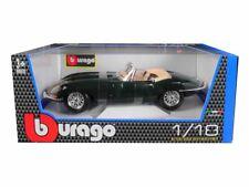 1 18 1961 Jaguar E Type Convertible Green Bburago