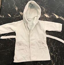 $2000 HERMES Terry Towelling Cloth Cotton BATHROBE Size 2 Child Girl Boy Robe