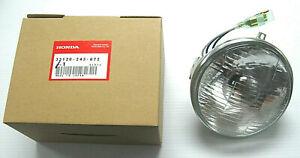 New Sealed Beam Genuine Honda Headlight, 6 volt, 33120-243-672, CB100, CB125S...
