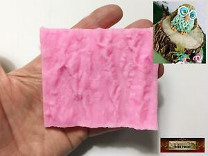 M00603-Small MOREZMORE Wood Tree Bark Texture Mold Silicone Mold Cake Clay