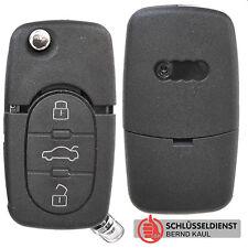 Auto Klapp Schlüssel Gehäuse AUDI A2 A3 A4 A6 TT S3 S4 S6 3 Tasten Fernbedienung