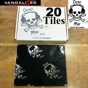 SOUND DEADENING PROOFING VAN CAR BUTYL DEAD MAT METAL FOIL AUDIO PANEL 20 mats