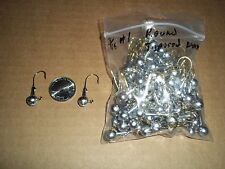 3/16oz #1 ROUND HEAD TAPERED BARB LEAD HEAD JIG EAGLE CLAW - GOLD 100ct