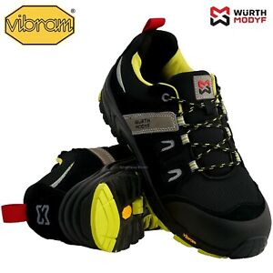 Mens Waterproof VIBRAM Safety Steel Toe Cap Work Trainers Ankle Boots Shoes Size