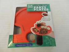 Set of 4 Football Helmet Party Plates with Built-in Bottle Holder from True Zoo