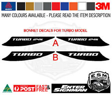 TERRITORY FORD ESM BONNET TURBO Stripe Kit / Racing Stripes / Decal Kit 3M-50