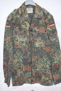 2x Bundeswehr Feldbluse Hemd Tarnjacke Jacke Feldhemd Flecktarn BW Größe 14