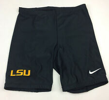 Nike LSU Louisiana State Tigers Running Compression Short Women's M Black 529059