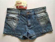 Trague multifunktional Denim Shorts Hot Pants Talla 12 Stud detalle BNWT