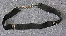 ANTIQUE MOURNING JEWELRY -  RIBBON CHOKER WITH TINY ACCENTS