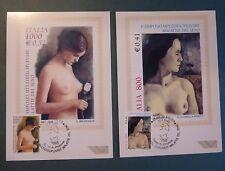 MAXI CARD - 2 FDC - MALATTIE SENO - 2000