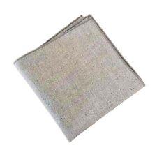 Light Grey Herringbone Pocket Square Linen Handkerchiefs