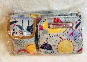 Lily Bloom Janet Belt Bag Raindrop Like It's Hot Storage Fanny Pack Hobo Eco
