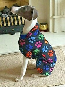 WHIPPET / LURCHER THIN FLEECE COAT,JUMPER WITH BELLY PANEL 14''-26'',NEW COLOUR