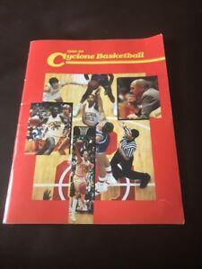 Rare Iowa State Cyclone Basketball 1985-86 Media Guide Jeff Hornacek Johnny Orr